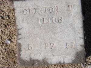 TITUS, CLINTON T - Yuma County, Arizona   CLINTON T TITUS - Arizona Gravestone Photos