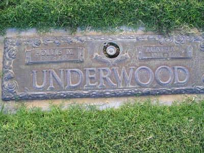 UNDERWOOD, HOLLIS M - Yuma County, Arizona   HOLLIS M UNDERWOOD - Arizona Gravestone Photos