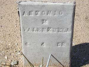 VALENZUELA, ANTONIO M - Yuma County, Arizona | ANTONIO M VALENZUELA - Arizona Gravestone Photos