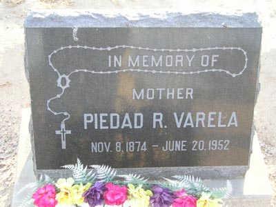 VARELA, PEIDRAD R - Yuma County, Arizona | PEIDRAD R VARELA - Arizona Gravestone Photos