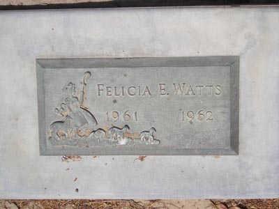 WATTS, FELICIA - Yuma County, Arizona   FELICIA WATTS - Arizona Gravestone Photos