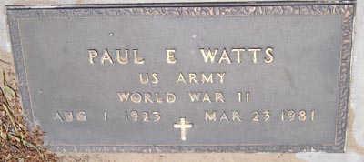 WATTS, PAUL E. - Yuma County, Arizona | PAUL E. WATTS - Arizona Gravestone Photos