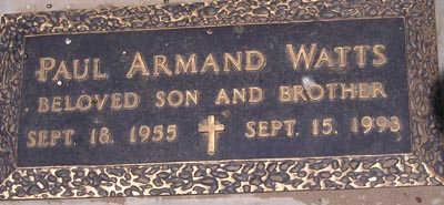 WATTS, PAUL ARMAND - Yuma County, Arizona | PAUL ARMAND WATTS - Arizona Gravestone Photos
