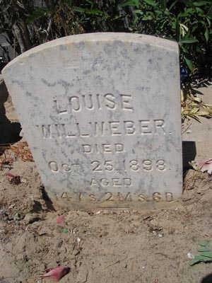 WILLWEBER, LOUISE - Yuma County, Arizona | LOUISE WILLWEBER - Arizona Gravestone Photos
