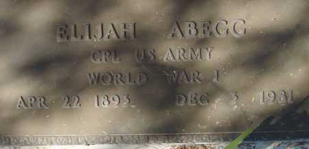 ABEGG, ELIJAH - Pima County, Arizona | ELIJAH ABEGG - Arizona Gravestone Photos