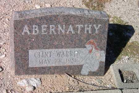 ABERNATHY, CLINT WARREN - Pima County, Arizona | CLINT WARREN ABERNATHY - Arizona Gravestone Photos