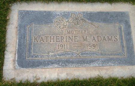 ADAMS, KATHERINE M. - Pima County, Arizona | KATHERINE M. ADAMS - Arizona Gravestone Photos