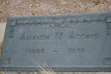 ADGATE, AMANDA V. - Pima County, Arizona   AMANDA V. ADGATE - Arizona Gravestone Photos