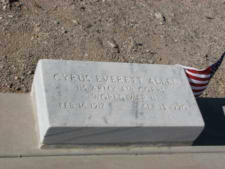 ALLEN, CYRUS EVERETT - Pima County, Arizona | CYRUS EVERETT ALLEN - Arizona Gravestone Photos