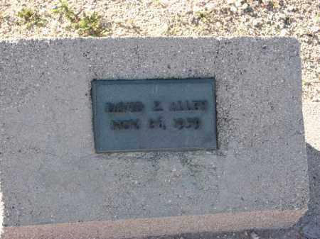 ALLEY, DAVID Z - Pima County, Arizona | DAVID Z ALLEY - Arizona Gravestone Photos