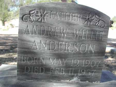 ANDERSON, ANDREW WILLIE - Pima County, Arizona | ANDREW WILLIE ANDERSON - Arizona Gravestone Photos