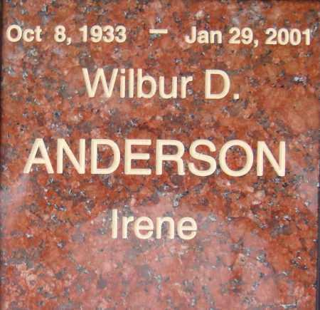 ANDERSON, WILBUR D. - Pima County, Arizona   WILBUR D. ANDERSON - Arizona Gravestone Photos
