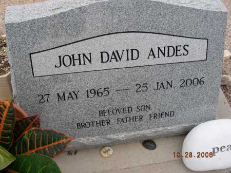 ANDES, JOHN DAVID - Pima County, Arizona | JOHN DAVID ANDES - Arizona Gravestone Photos