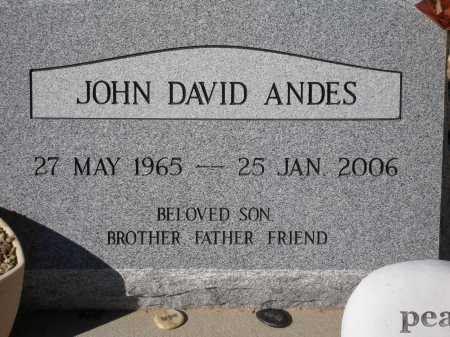 ANDES, JOHN DAVID - Pima County, Arizona | JOHN DAVID ANDES - Arizona Gravestone Photos