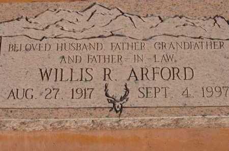 ARFORD, WILLIS R. - Pima County, Arizona   WILLIS R. ARFORD - Arizona Gravestone Photos