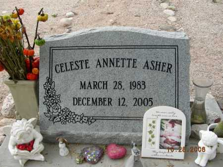 ASHER, CELESTE ANNETTE - Pima County, Arizona | CELESTE ANNETTE ASHER - Arizona Gravestone Photos