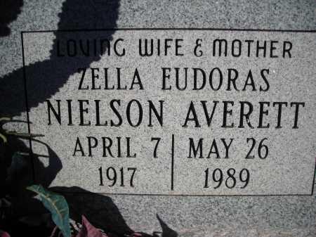 AVERETT, ZELLA EUDORAS NIELSON - Pima County, Arizona   ZELLA EUDORAS NIELSON AVERETT - Arizona Gravestone Photos