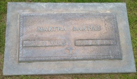 BARTELS, MARTHA - Pima County, Arizona | MARTHA BARTELS - Arizona Gravestone Photos
