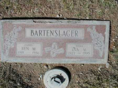 BARTENSLAGER, INA M - Pima County, Arizona | INA M BARTENSLAGER - Arizona Gravestone Photos