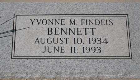 FINDEIS BENNETT, YVONNE M. - Pima County, Arizona   YVONNE M. FINDEIS BENNETT - Arizona Gravestone Photos