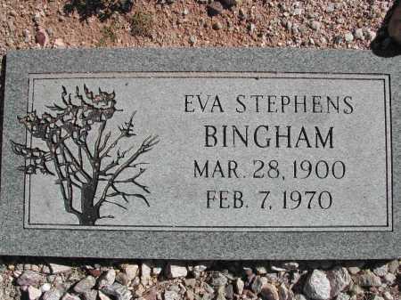 BINGHAM, EVA STEPHENS - Pima County, Arizona | EVA STEPHENS BINGHAM - Arizona Gravestone Photos