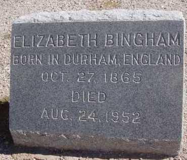 BINGHAM, ELIZABETH - Pima County, Arizona   ELIZABETH BINGHAM - Arizona Gravestone Photos