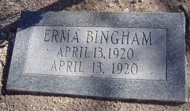 BINGHAM, ERMA - Pima County, Arizona | ERMA BINGHAM - Arizona Gravestone Photos