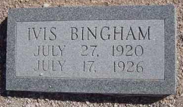 BINGHAM, IVIS - Pima County, Arizona   IVIS BINGHAM - Arizona Gravestone Photos