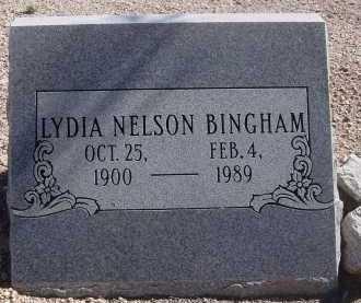 BINGHAM, LYDIA NELSON - Pima County, Arizona   LYDIA NELSON BINGHAM - Arizona Gravestone Photos