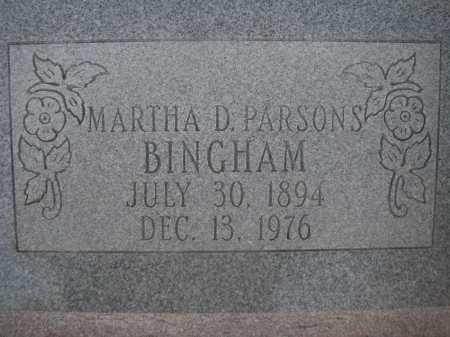 BINGHAM, MARTHA D. - Pima County, Arizona | MARTHA D. BINGHAM - Arizona Gravestone Photos