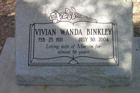 BINKLEY, VIVIAN WANDA - Pima County, Arizona | VIVIAN WANDA BINKLEY - Arizona Gravestone Photos