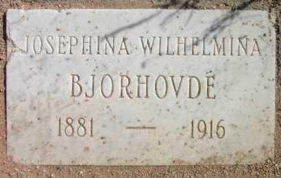 BJORHOVDE, JOSEPHINA WILHELMINA - Pima County, Arizona   JOSEPHINA WILHELMINA BJORHOVDE - Arizona Gravestone Photos