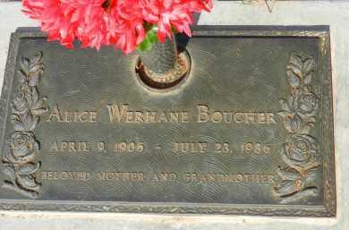 BOUCHER, ALICE - Pima County, Arizona   ALICE BOUCHER - Arizona Gravestone Photos