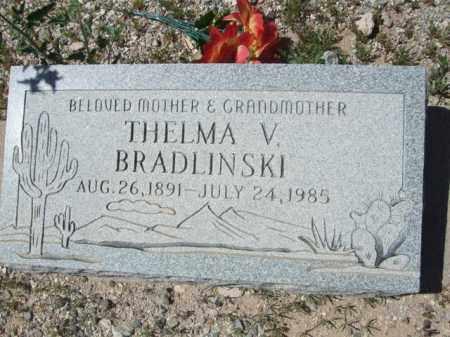 BRADLINSKI, THELMA V. - Pima County, Arizona | THELMA V. BRADLINSKI - Arizona Gravestone Photos