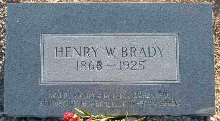 BRADY, HENRY W - Pima County, Arizona | HENRY W BRADY - Arizona Gravestone Photos