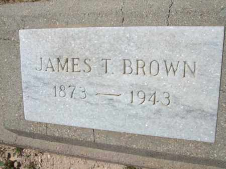 BROWN, JAMES T. - Pima County, Arizona   JAMES T. BROWN - Arizona Gravestone Photos