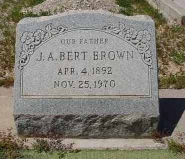 BROWN, J. A. BERT - Pima County, Arizona | J. A. BERT BROWN - Arizona Gravestone Photos