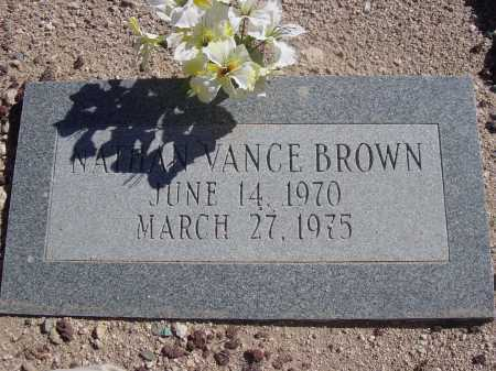 BROWN, NATHAN VANCE - Pima County, Arizona | NATHAN VANCE BROWN - Arizona Gravestone Photos