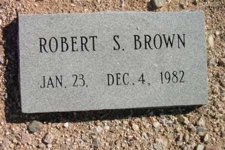 BROWN, ROBERT S. - Pima County, Arizona   ROBERT S. BROWN - Arizona Gravestone Photos