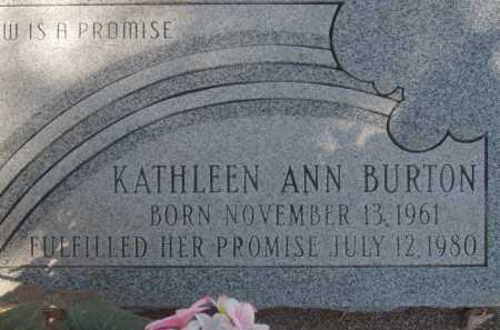 BURTON, KATHLEEN ANN - Pima County, Arizona   KATHLEEN ANN BURTON - Arizona Gravestone Photos