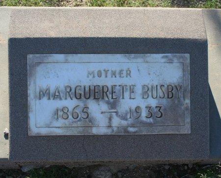 ROBISON BUSBY, MARGUERETE - Pima County, Arizona | MARGUERETE ROBISON BUSBY - Arizona Gravestone Photos