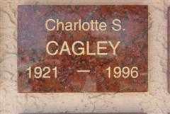 CAGLEY, CHARLOTTE S. - Pima County, Arizona | CHARLOTTE S. CAGLEY - Arizona Gravestone Photos