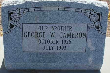 CAMERON, GEORGE W. - Pima County, Arizona   GEORGE W. CAMERON - Arizona Gravestone Photos