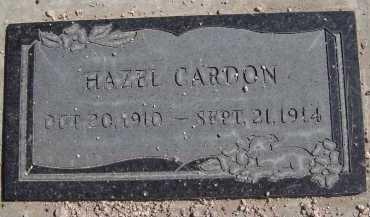 CARDON, HAZEL - Pima County, Arizona | HAZEL CARDON - Arizona Gravestone Photos