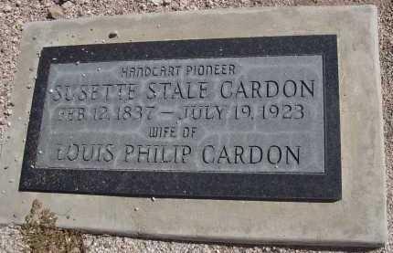 CARDON, SUSETTE STALE - Pima County, Arizona | SUSETTE STALE CARDON - Arizona Gravestone Photos
