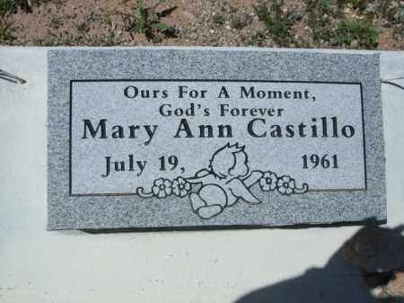 CASTILLO, MARY ANN - Pima County, Arizona | MARY ANN CASTILLO - Arizona Gravestone Photos
