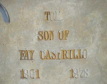 CASTRILLO, TOM - Pima County, Arizona   TOM CASTRILLO - Arizona Gravestone Photos