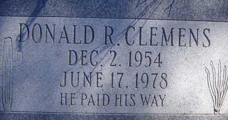 CLEMENS, DONALD R. - Pima County, Arizona | DONALD R. CLEMENS - Arizona Gravestone Photos