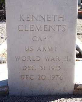CLEMENTS, KENNETH - Pima County, Arizona | KENNETH CLEMENTS - Arizona Gravestone Photos