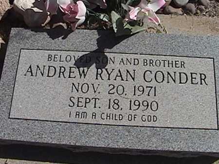 CONDER, ANDREW RYAN - Pima County, Arizona | ANDREW RYAN CONDER - Arizona Gravestone Photos